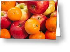 Apple Tangerine And Oranges Greeting Card