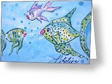Art Fish Greeting Card