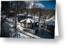 At The Ski Resort Greeting Card