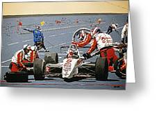 Automobile Racing Greeting Card