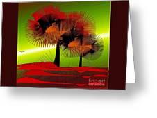 Autumn Colours Greeting Card by Iris Gelbart