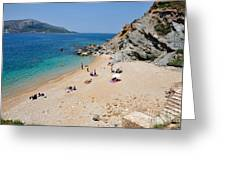 Beach In Legrena Greeting Card