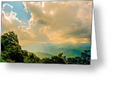 Blue Ridge Parkway Scenic Mountains Overlook Greeting Card