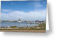 Cardiff Bay Panorama Greeting Card