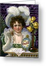 5 Cent Coca Cola - 1890 Greeting Card