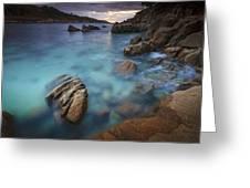 Chanteiro Beach Galicia Spain Greeting Card