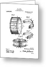 Collapsible Drum Patent 008 Greeting Card