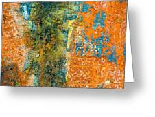 Colored Rust Metal Greeting Card