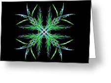 Colorful Crystalline Snowflake Greeting Card
