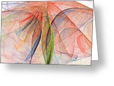Colorful Silk Scarf Greeting Card