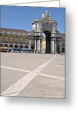 Commerce Square In Lisbon Greeting Card