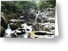 Conwy River Near Betws Y Coed.  Greeting Card