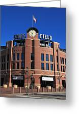 Coors Field - Colorado Rockies Greeting Card