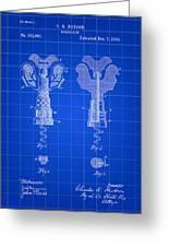 Corkscrew Patent 1886 - Blue Greeting Card