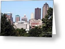 Des Moines Iowa Greeting Card