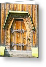 Detail Of The Door Of A Typical Ukrainian Antique Orthodox Churc Greeting Card