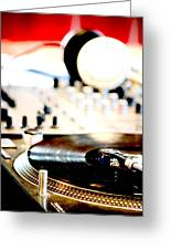 Dj Table Greeting Card
