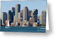 Downtown Boston Skyline Greeting Card