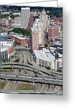 Downtown Providence Rhode Island Greeting Card