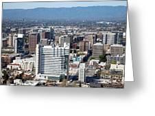 Downtown San Jose California Greeting Card