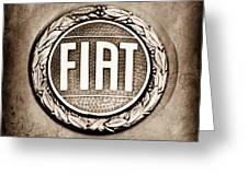 Fiat Emblem Greeting Card