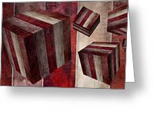 5 Fire Cubed Greeting Card