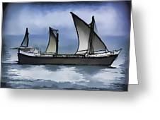 Fishing Vessel In The Arabian Sea Greeting Card