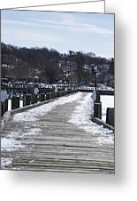 Frozen Northport Dock Greeting Card
