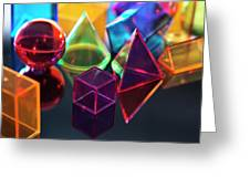 Geometric Shapes Greeting Card