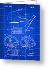 Golf Club Patent 1926 - Blue Greeting Card