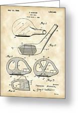 Golf Club Patent 1926 - Vintage Greeting Card