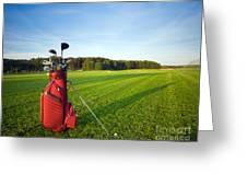 Golf Gear Greeting Card by Michal Bednarek