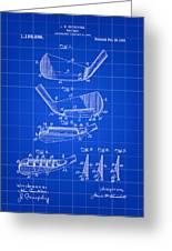 Golf Iron Patent 1914 - Blue Greeting Card