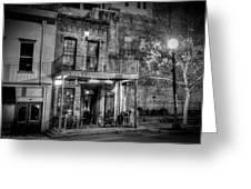 Historic Houston Black And White Greeting Card