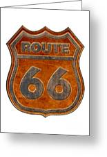 Historical Route 66 Sign Illustration Greeting Card