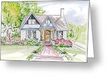 House Rendering Greeting Card