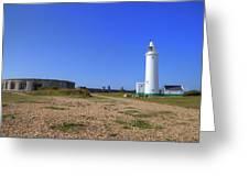 Hurst Point Lighthouse Greeting Card