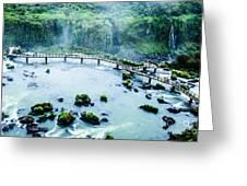 Iguassu Falls In Brazil Greeting Card