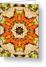 Kaleidoscope Vegetable Sushi Greeting Card