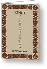 Kenny Written In Ogham Greeting Card