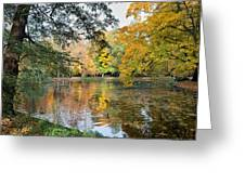 Lazienki Park In Warsaw Greeting Card