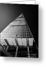 looking up at the shard building London England UK Greeting Card