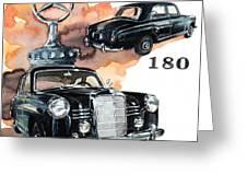 Mercedes 180 Greeting Card