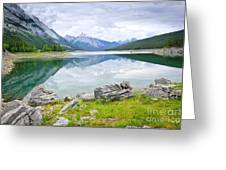 Mountain Lake In Jasper National Park Greeting Card