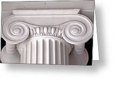 Neoclassical Ionic Architectural Details Greeting Card