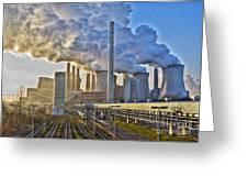 Neurath Power Station Germany Greeting Card by David Davies