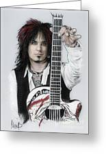 Nikki Sixx 4 Greeting Card