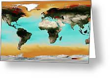 Ocean Carbonate Saturation Greeting Card