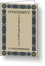 O'doherty Written In Ogham Greeting Card
