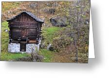 Old Rustic House Greeting Card